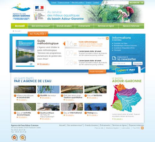 Page Accueil Agence de l'Eau Adour-Garonne