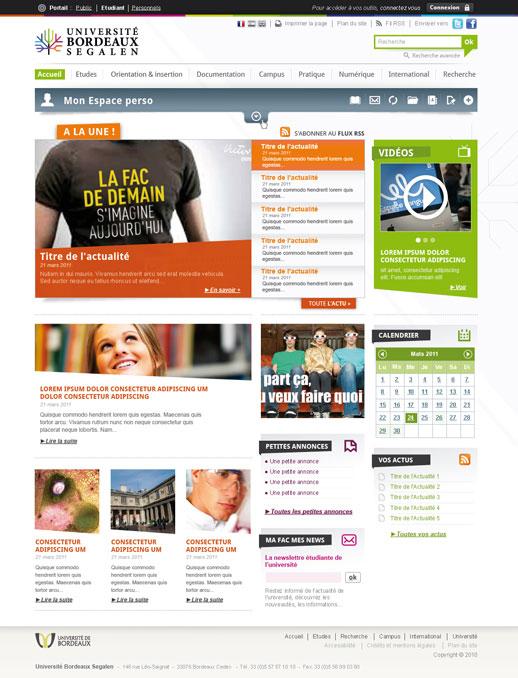 Accueil Université de Bordeaux 2 (Site étudiant)