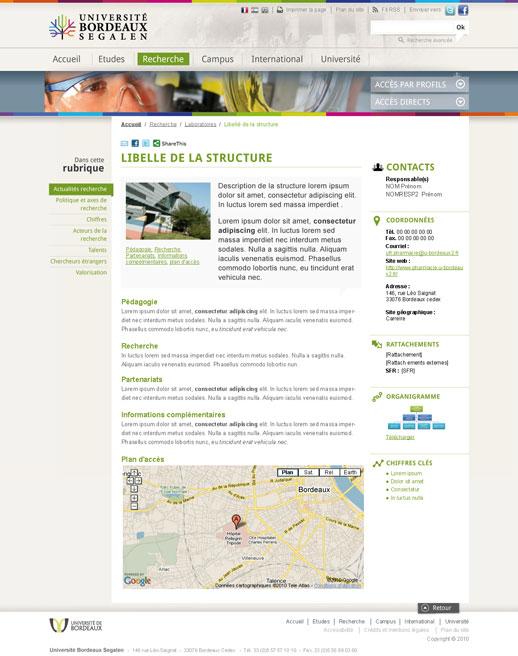 Page Université de Bordeaux 2