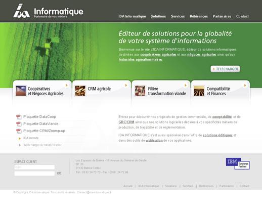 page d'accueil IDA Informatique