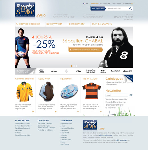 Accueil RugbyShop 1° proposition
