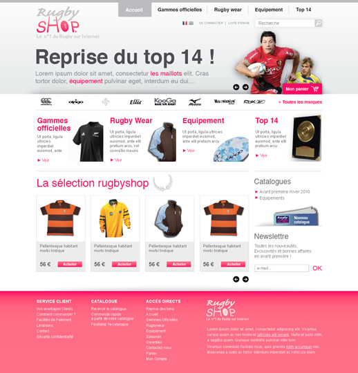 Accueil RugbyShop 2° proposition