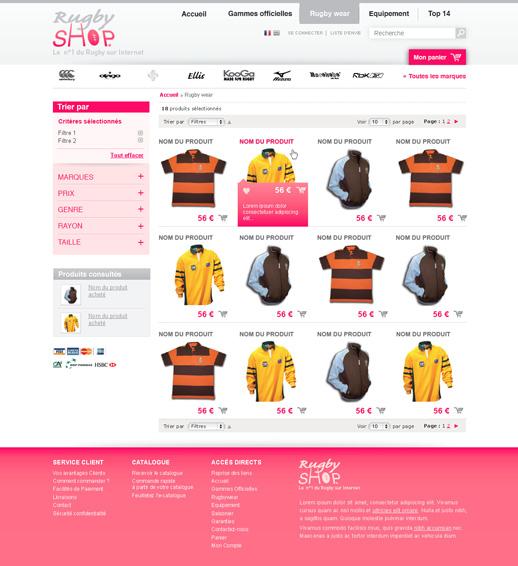 Listing produit RugbyShop 2° proposition