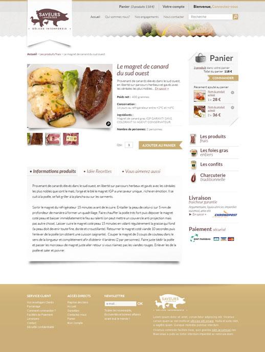 Page produit Saveurs Landaises