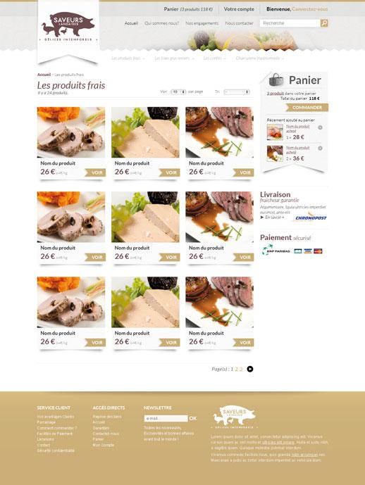 Listing produits Saveurs Landaises