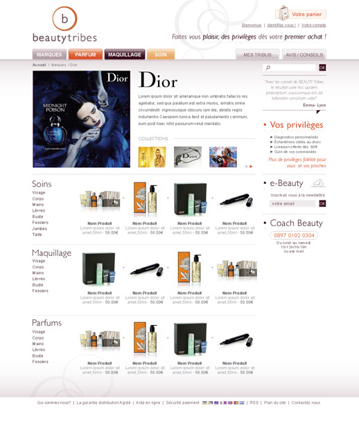 Univers marque BeautyTribes.com
