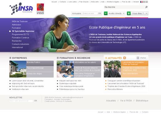 Page accueil INSA