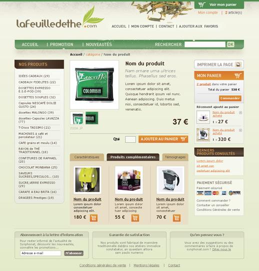 """Déclinaison pour le site """"La feuille de thé"""""""
