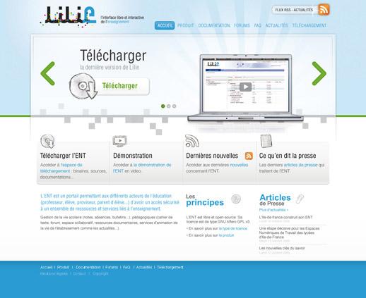 Page accueil ENT Lilie V01