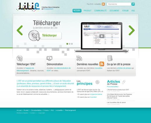 Page accueil ENT Lilie V02