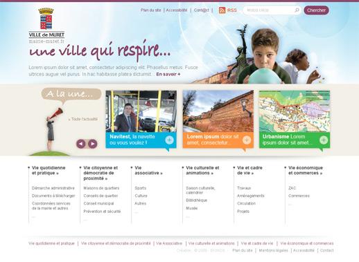 Page accueil ville de Muret
