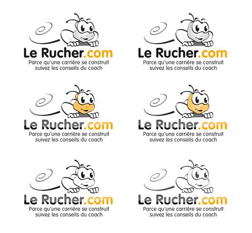 Déclinaison de logo pour le Rucher de l'emploi