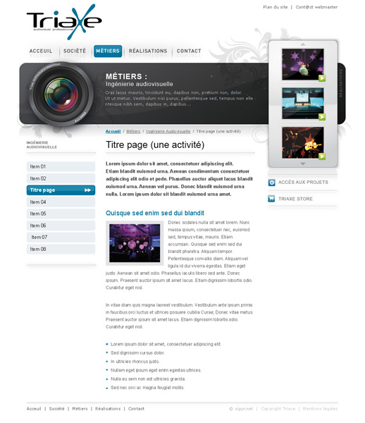 page contenu Triaxe