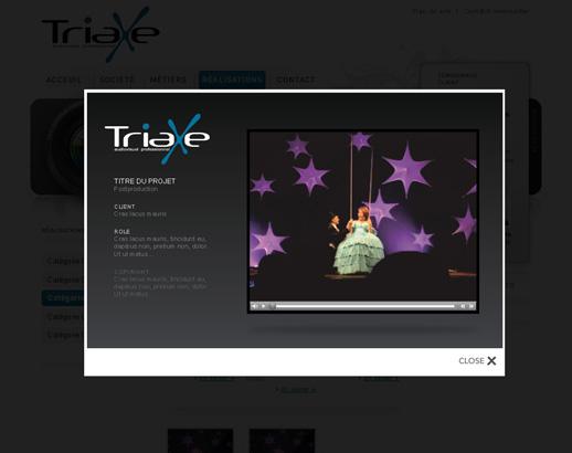 Aperçu d'une référence Triaxe